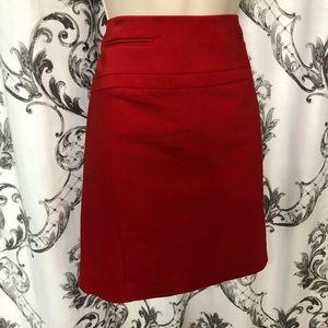 **Express Red Pencil Skirt**